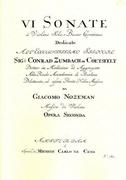 6 Sonatas op. 2 – Giacomo Nozeman