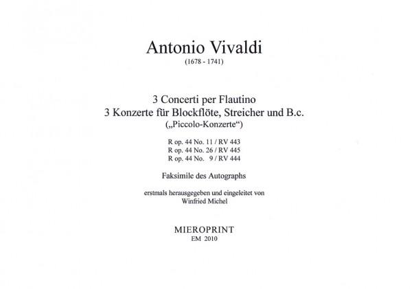 3 Concerti per Flautino – Antonio Vivaldi