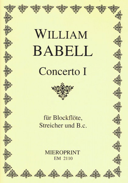 Concerto I, op. 3 – William Babell