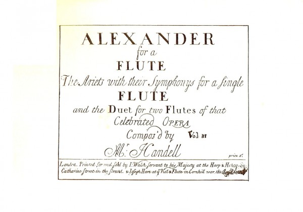 """Alexander"" for a single flute – Georg Friedrich Händel"