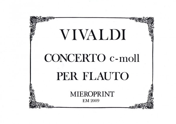 Concerto C minor – Antonio Vivaldi