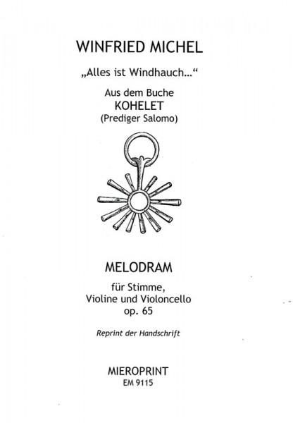 Aus dem Buche Kohelet (der Prediger Salomo, A.T.) – Winfried Michel
