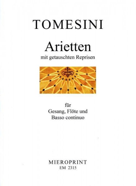 Arietten mit getauschten Reprisen/ Ariettes with exchanges reprises – Giovanni Paolo Tomesini