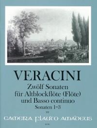 12 Sonaten für Flöte und B.c.: Band I – Francesco Maria Veracini