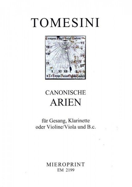 Canonische Arien/ Canonical Arias – Grimmelshausen, Paul Gerhardt u.a./ and others
