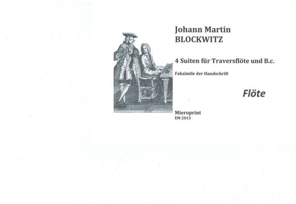 Suites pour la Flûte – Johann Martin Blockwitz