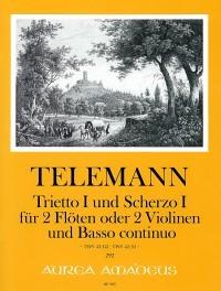 Trietto I (G major) and Scherzo I (A major) – Georg Philipp Telemann, Winfried Michel