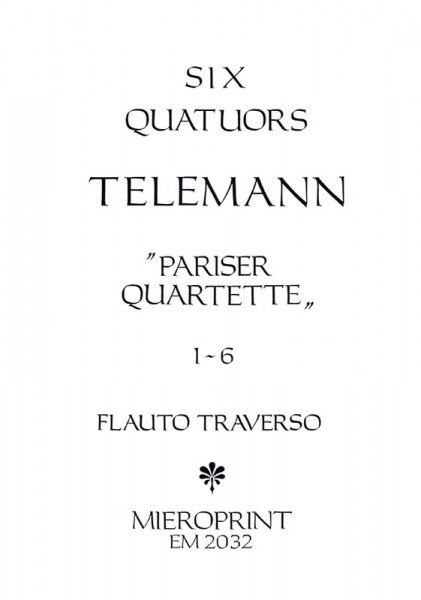 Parisian Quartets: Vol. I – Georg Philipp Teleman