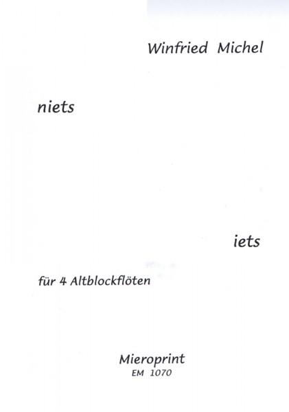 Niets / iets – Winfried Michel