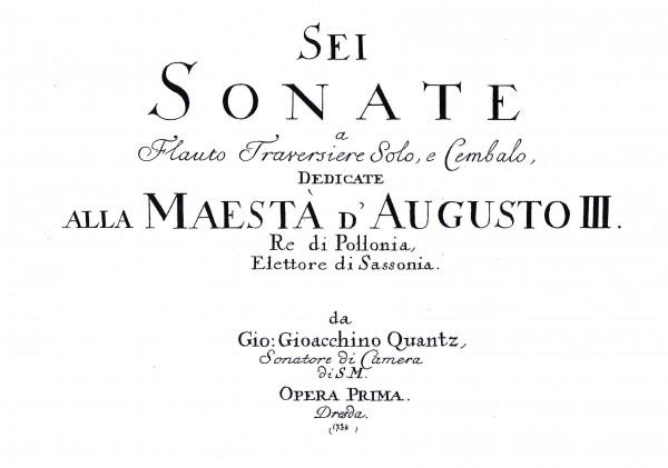 6 Sonaten op. 1 – Johann Joachim Quantz