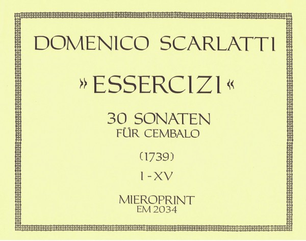 Essercizi per Gravicembalo: Vol. I – Domenico Scarlatti