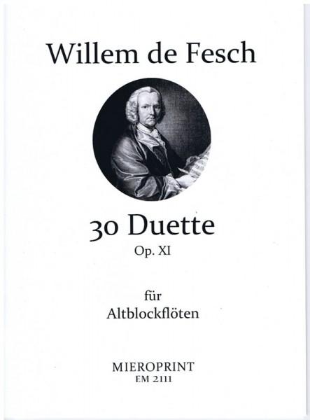 30 Duette, op. 11 – Willem de Fesch