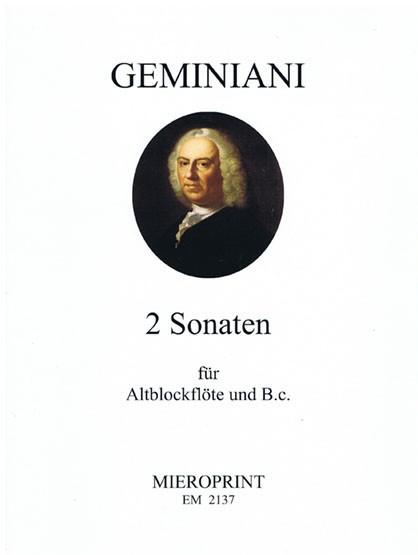 2 Sonatas – Francesco Geminiani