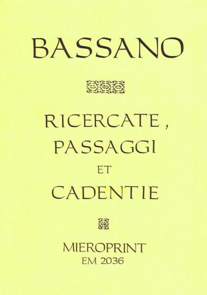 Ricercate, Passaggi e Cadentie – Giovanni Bassano