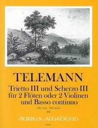 Trietto III (D minor) and Scherzo III (D manor) – Georg Philipp Telemann, Winfried Michel