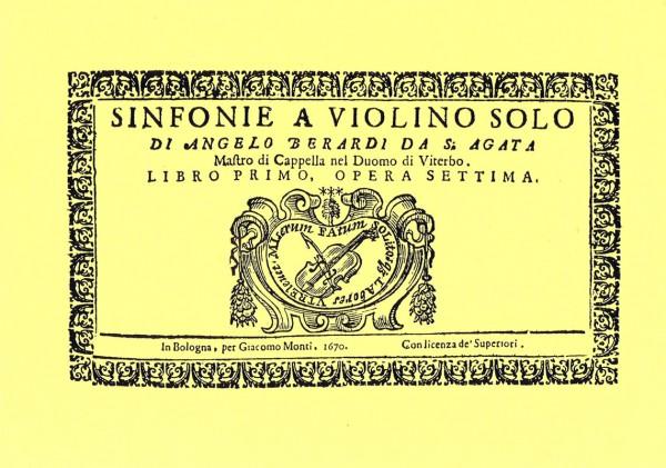 6 Canzonen op. 7 – Angelo Berardi