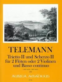 Trietto II (D-dur) und Scherzo II (E-dur) – Georg Philipp Telemann