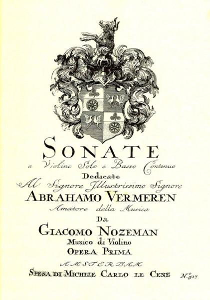 6 Sonaten op. 1 – Giacomo Nozeman