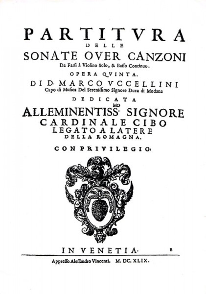 13 Sonatas Op. 5 – Marco Uccellini (1630 – 1680)