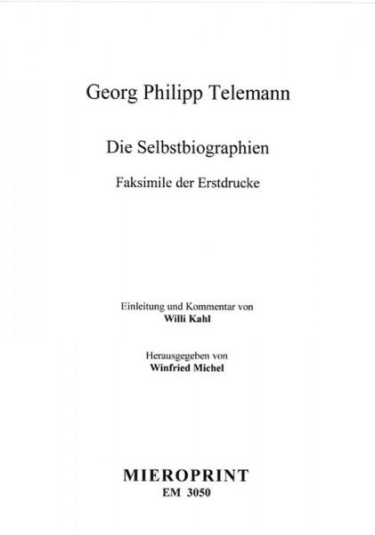 Die Selbstbiographien – Georg Philipp Telemann