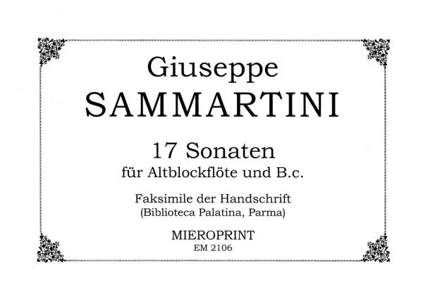 17 Sonaten (Sinfonie) – Giuseppe Sammartini